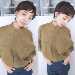 ベリーショート ショート モード マッシュ ヘアスタイルや髪型の写真・画像