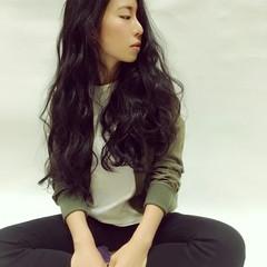 パーマ 冬 ロング 色気 ヘアスタイルや髪型の写真・画像