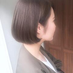 ボブ 大人可愛い 暗髪女子 ナチュラル ヘアスタイルや髪型の写真・画像