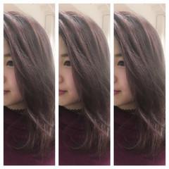 ベージュ ハイライト ピンク ガーリー ヘアスタイルや髪型の写真・画像