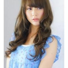 フェミニン 外国人風 かわいい ロング ヘアスタイルや髪型の写真・画像