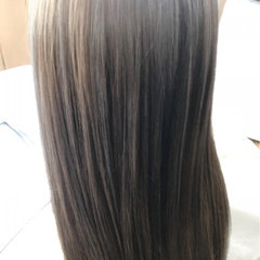 3Dカラー グレージュ 外国人風カラー ロング ヘアスタイルや髪型の写真・画像