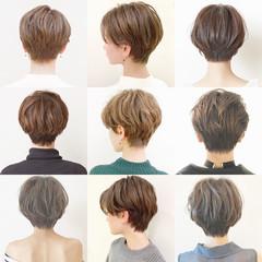 パーマ ショート オフィス ショートボブ ヘアスタイルや髪型の写真・画像