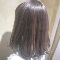 グレー ナチュラル グレージュ ロブ ヘアスタイルや髪型の写真・画像