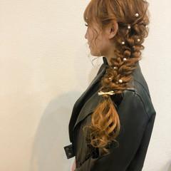 フェミニン ロング ヘアアレンジ ヘアセット ヘアスタイルや髪型の写真・画像