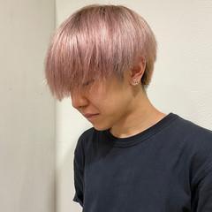 ショート ピンクアッシュ メンズヘア メンズマッシュ ヘアスタイルや髪型の写真・画像