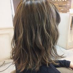 ボブ ハイライト ニュアンス 色気 ヘアスタイルや髪型の写真・画像