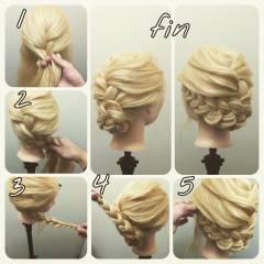 コンサバ ロング 簡単ヘアアレンジ 春 ヘアスタイルや髪型の写真・画像