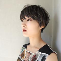 ブルージュ ショート マニッシュ ハイライト ヘアスタイルや髪型の写真・画像