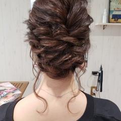 結婚式 ヘアアレンジ イルミナカラー フェミニン ヘアスタイルや髪型の写真・画像