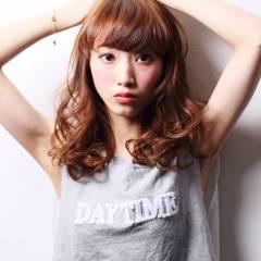 フェミニン モテ髪 セミロング ナチュラル ヘアスタイルや髪型の写真・画像