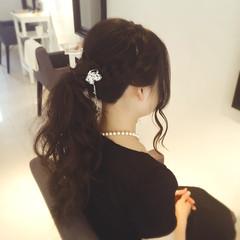 ルーズ コンサバ ロング ポニーテール ヘアスタイルや髪型の写真・画像