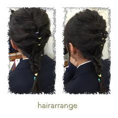 簡単ヘアアレンジ くるりんぱ ヘアアレンジ ショート ヘアスタイルや髪型の写真・画像