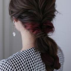 フェミニン 簡単ヘアアレンジ ヘアアレンジ デート ヘアスタイルや髪型の写真・画像