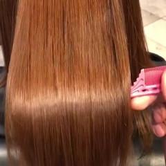 ストレート ナチュラル 大人ミディアム 髪質改善 ヘアスタイルや髪型の写真・画像