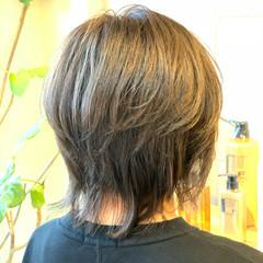 グラデーションカラー ウルフカット ストリート ブリーチカラー ヘアスタイルや髪型の写真・画像