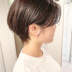 デート 大人かわいい ナチュラル ショートヘア ヘアスタイルや髪型の写真・画像