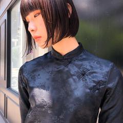 モード 前髪 黒髪 透明感 ヘアスタイルや髪型の写真・画像