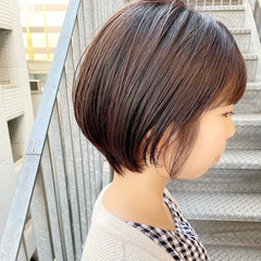 ショート ショートヘア オフィス ナチュラル ヘアスタイルや髪型の写真・画像
