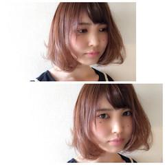 ガーリー フェミニン ハイトーン ピュア ヘアスタイルや髪型の写真・画像