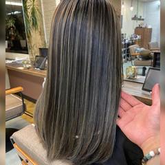 ロング ハイライト 外国人風 コンサバ ヘアスタイルや髪型の写真・画像