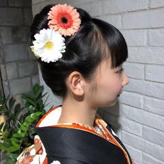 アップスタイル ロング 成人式 前髪 ヘアスタイルや髪型の写真・画像