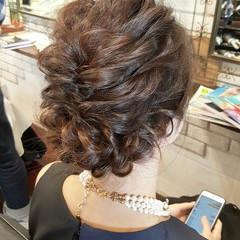 ヘアアレンジ セミロング 外国人風 ハーフアップ ヘアスタイルや髪型の写真・画像