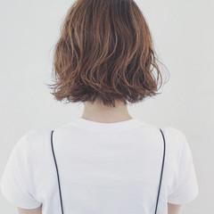 簡単 ストリート パーマ ボブ ヘアスタイルや髪型の写真・画像