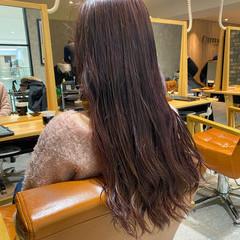 ロング ダメージレス 透明感カラー イルミナカラー ヘアスタイルや髪型の写真・画像