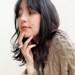 透明感カラー ヘアカラー ベージュカラー ミディアムヘアー ヘアスタイルや髪型の写真・画像
