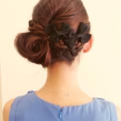 コンサバ パーティ ヘアスタイルや髪型の写真・画像