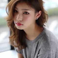 モテ髪 ストリート ミディアム コンサバ ヘアスタイルや髪型の写真・画像