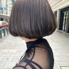 アッシュグレージュ グレージュ ナチュラル ボブ ヘアスタイルや髪型の写真・画像