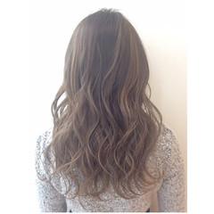 グラデーションカラー フェミニン ゆるふわ セミロング ヘアスタイルや髪型の写真・画像