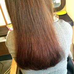 グラデーションカラー 秋 ラベンダー レッド ヘアスタイルや髪型の写真・画像