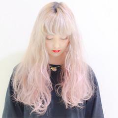 大人かわいい ナチュラル セミロング グラデーションカラー ヘアスタイルや髪型の写真・画像