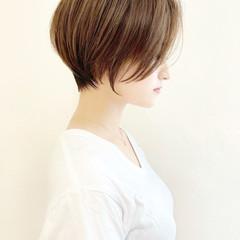 ショート 耳掛けショート ミニボブ ショートヘア ヘアスタイルや髪型の写真・画像