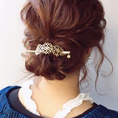 アンニュイ エレガント 結婚式 リラックス ヘアスタイルや髪型の写真・画像