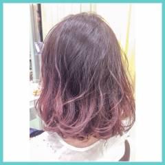 ガーリー パンク ミディアム ラベンダーアッシュ ヘアスタイルや髪型の写真・画像