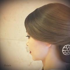 和髪 ロング 着物 エレガント ヘアスタイルや髪型の写真・画像