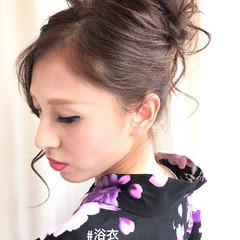 夏 和装 ロング 花火大会 ヘアスタイルや髪型の写真・画像