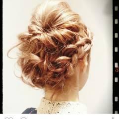 ナチュラル フェミニン ゆるふわ ヘアアレンジ ヘアスタイルや髪型の写真・画像
