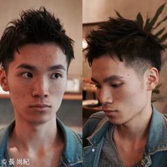 ナチュラル 黒髪 ショート メンズ ヘアスタイルや髪型の写真・画像