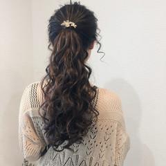 ポニーテールアレンジ ヘアセット ヘアアレンジ フェミニン ヘアスタイルや髪型の写真・画像