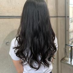 デジタルパーマ ロング コテ巻き風パーマ ゆるふわパーマ ヘアスタイルや髪型の写真・画像