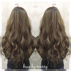 大人かわいい グラデーションカラー ハイライト ガーリー ヘアスタイルや髪型の写真・画像