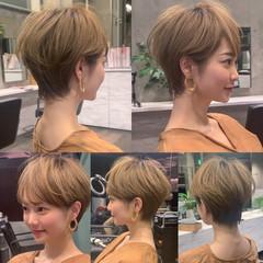 ショートヘア 辺見えみり ショートボブ ナチュラル ヘアスタイルや髪型の写真・画像