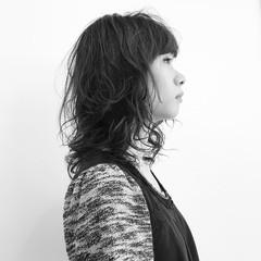 ヘアメイク セミロング 女子力 オフィス ヘアスタイルや髪型の写真・画像