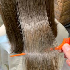 サイエンスアクア 縮毛矯正 髪質改善トリートメント ナチュラル ヘアスタイルや髪型の写真・画像