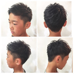 メンズカット ツーブロック キッズカット ナチュラル ヘアスタイルや髪型の写真・画像